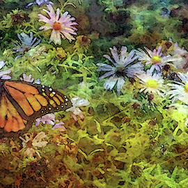 Monarch Among The Aster 5626 Idp_maa_2 by Steven Ward