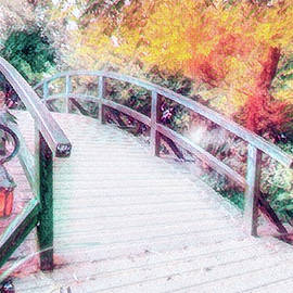 Monet's bridge at Grounds for Sculpture in Hamilton, New Jersey by Geraldine Scull