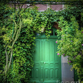 Monet's Green Door Garden, Giverny 2 by Liesl Walsh