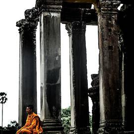 Monk At Angkor by Georgia Fowler