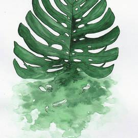 Monstera leaf by Elena Gabbasova