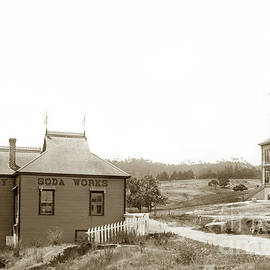 Monterey Soda Works , Motnterey Pacific Street School Circa 1895 by California Views Archives Mr Pat Hathaway Archives
