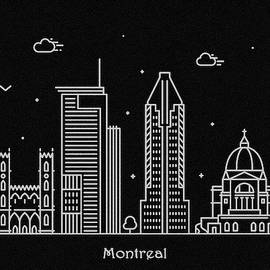 Montreal Skyline Travel Poster by Inspirowl Design
