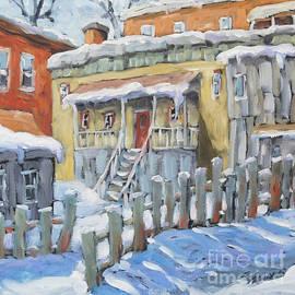 Richard T Pranke - Montreal Winter Shed by Richard Pranke