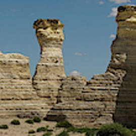 Monument Rocks Kansas Panorama 2 by Lawrence S Richardson Jr