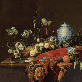 Hubert van Westhovena - Monumental Still life with Fruit and Various