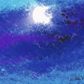Moon Abstract by Nishma Creations