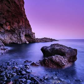 Moon. Del Medio beach. La Gomera Island by Guido Montanes Castillo
