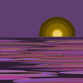 Moon Light Bay -  Purples by Val Arie