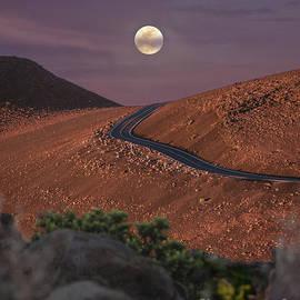 Moon over Haleakala by RJ Bridges