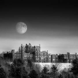 Moon Over Oak Grove Coburn by John Meader
