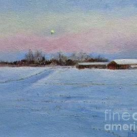Moon Over Saratoga Farm by Barbara Moak