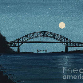 Moon over the Bourne Bridge by Tracy Bowman