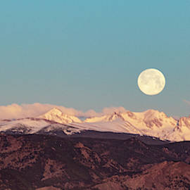 Moonlight Over Colorado Mountains II by Patricia Awapara