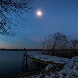 Moonlight Over The Lake by Davor Zerjav