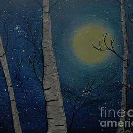 Moonlit Birch by Kathy Carlson