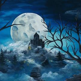 Moonlit Castle  by Danett Britt