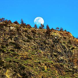 Moonrise Behind Yosemite Ridge by Garry Gay