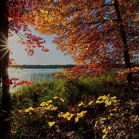 Morning Autumn Light at Marl Lake by Ron Wiltse