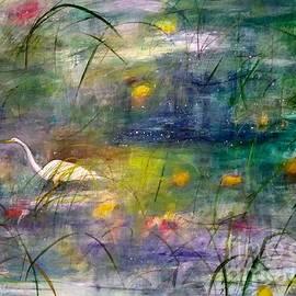 Morning Beauty - Egret in Marsh by Diane Splinter