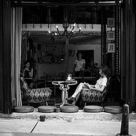 Morning chill at a street cafe by Farzad Frames
