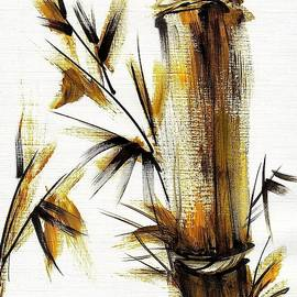 Morning Light - Bamboo Wash Painting by Rebecca Rees