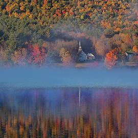 Morning Misty Reflection Of Eaton Church by Jeff Folger