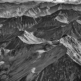 Morning On The Alaska Range Black And White by Rick Berk