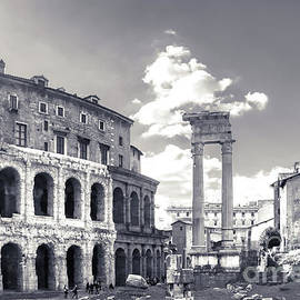 Morning view to the Theatre of Marcellus - Teatro di Marcello - built in early Roman Republic by Stefano Senise
