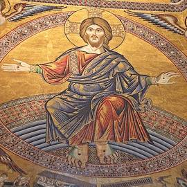 Mosaic of Jesus Christ Baptistry Florence  by Marlin and Laura Hum
