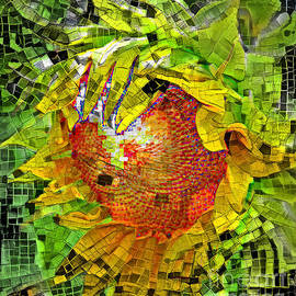 Mosaic Sunflower by Trudee Hunter