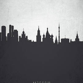 Aged Pixel - Moscow City Skyline RUSMW19