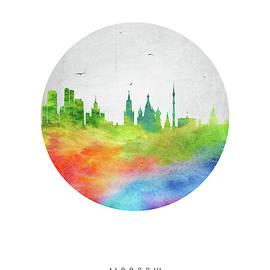 Aged Pixel - Moscow City Skyline RUSMW20