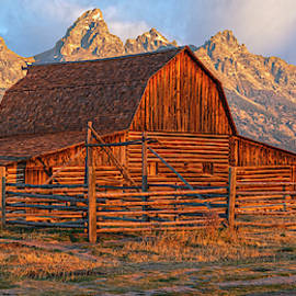 Moulton Barn In First  Light Pano Version by Angelo Marcialis
