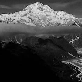 Mount Denali with it's glaciers by Kedar Munshi