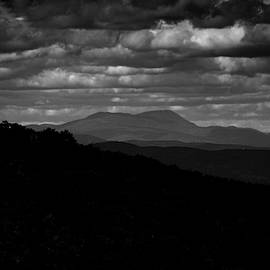 Mount Greylock From Mount Race In Black And White by Raymond Salani III