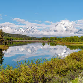 Mount Moran At Oxbow Bend on Snake River - Grand Teton National Park Wyoming by Brian Harig