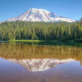 Mount Rainier Reflection 00993 by Kristina Rinell