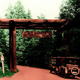 Mount Rainier Vintage Entrance by Eddie Eastwood