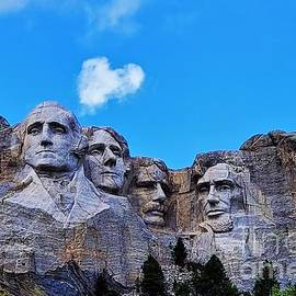 Mount Rushmore with Heart by Suzanne Wilkinson