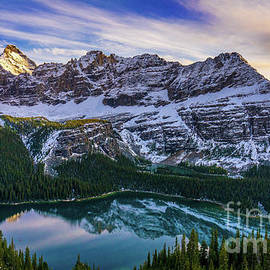 Mount Schaffer Sunset Above Lake OHara by Mike Reid