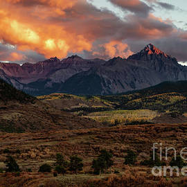 Mount Sneffels Sunset Highlights by Norma Brandsberg