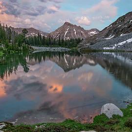 Mountain Lake Sunset by Leland D Howard