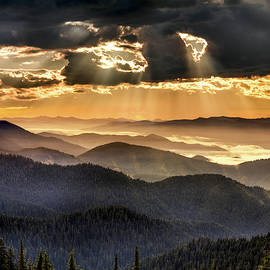 Mountain Layers by Leland D Howard