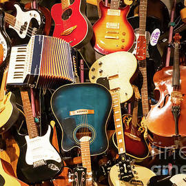 Mountain Of Guitars R943 by Wingsdomain Art and Photography