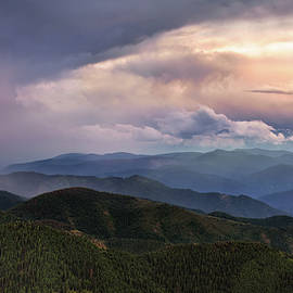 Mountain Storm and Rainbow by Leland D Howard