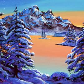 Mountain Sunset Ice by David Lloyd Glover