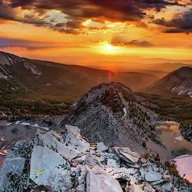 Mountain Top Sunrise by Leland D Howard