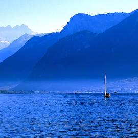 Mountains Across Lake Geneva by Jeremy Hayden