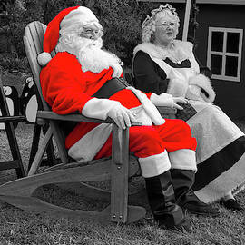 Mr and Mrs Clause selective color by TJ Baccari